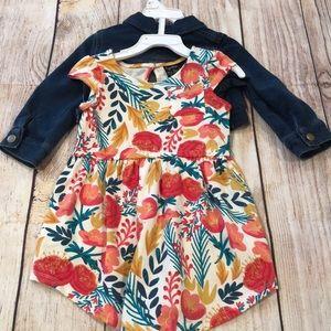 Cynthia rowley dress and denim jacket set
